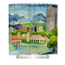 City Park Wonderland Summer Shower Curtain