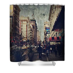 City Sidewalks Shower Curtain by Laurie Search