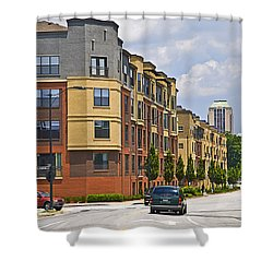 City Street Intersection Shower Curtain