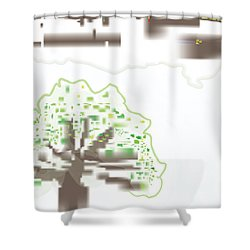 City Tree Shower Curtain