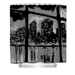 City View Shower Curtain by Carla Carson