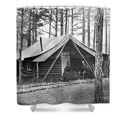 Civil War: Log Cabin, 1864 Shower Curtain by Granger