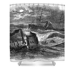 Civil War: Monitor Sinking Shower Curtain by Granger
