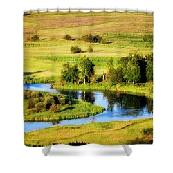 Shower Curtain featuring the photograph Clark Fork Delta  by Albert Seger