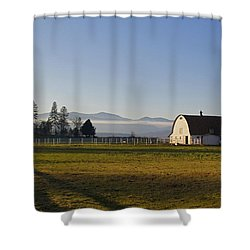 Classic Barn In The Country Shower Curtain by Mick Anderson