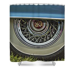 Classic Cadillac Wheel Shower Curtain