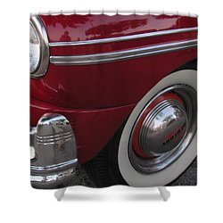 Classic Car Mercury Red 3 Shower Curtain by Anita Burgermeister