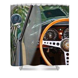 Classic Green Jaguar Artwork Shower Curtain