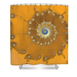 Classic Nautilus Shower Curtain by Mark Greenberg
