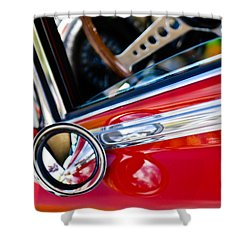 Classic Red Car Artwork Shower Curtain