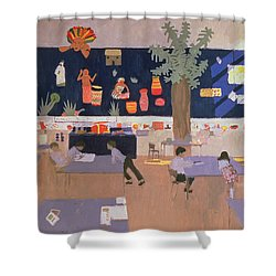 Classroom Shower Curtain by Andrew Macara