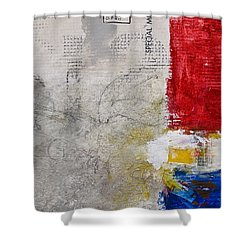 Clear Cut Shower Curtain by Cliff Spohn