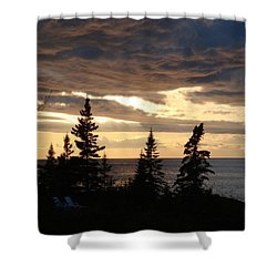 Shower Curtain featuring the photograph Clearing Sky by Bonfire Photography