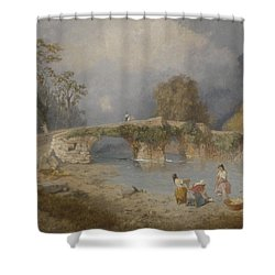 Clearing Up For Fine Weather Beddgelert North Wales 1867 Shower Curtain by James Baker Pyne