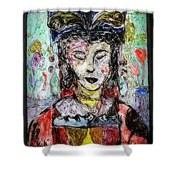 Cleopatra In Spring Shower Curtain by Mykul Anjelo