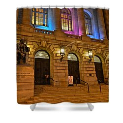 Cleveland Court House Shower Curtain by Frozen in Time Fine Art Photography