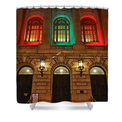 Cleveland Courthouse Shower Curtain by Frozen in Time Fine Art Photography