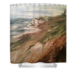 Cliff Side - Newport Shower Curtain