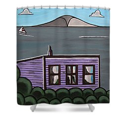 Cliff Top Shower Curtain by Sandra Marie Adams