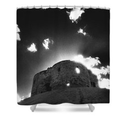 Cliffords Tower Shower Curtain by Simon Marsden