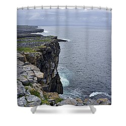 Shower Curtain featuring the photograph Cliffs Of Inishmore by Hugh Smith
