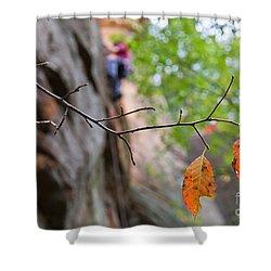Climber In Fall Shower Curtain
