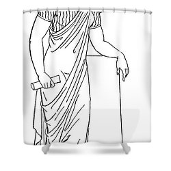 Clio, Muse Of History Shower Curtain by Granger