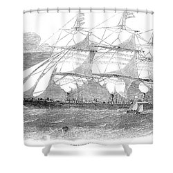 Clipper Ship, 1853 Shower Curtain by Granger