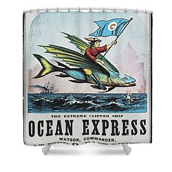 Clipper Ship Card, C1850 Shower Curtain by Granger