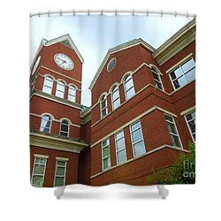 Clock Tower Shower Curtain by Renee Trenholm