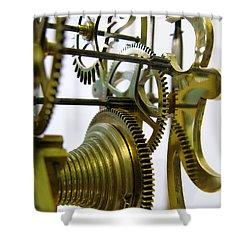 Clockwork Shower Curtain by John Chatterley