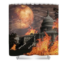 Close Approach Of Nibiru, Planet X Shower Curtain by Ron Miller