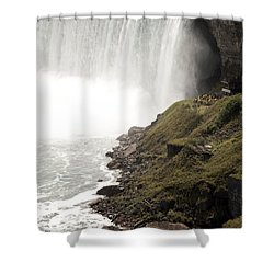 Close To The Falls Shower Curtain by Amanda Barcon