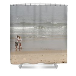 Close To You - Jersey Shore Shower Curtain by Angie Tirado