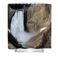 Close Up Of Lower Falls Shower Curtain by Living Color Photography Lorraine Lynch
