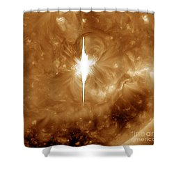 Close-up View Of A Massive X2.2 Solar Shower Curtain by Stocktrek Images