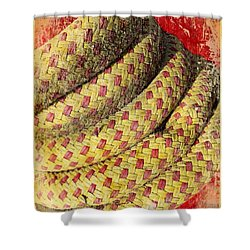 Close View Of Winch In Portmagee Ireland Shower Curtain