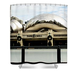 Cloud Gate - 2 Shower Curtain by Ely Arsha