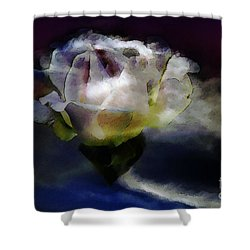 Shower Curtain featuring the photograph Cloud Rose Painterly by Clayton Bruster