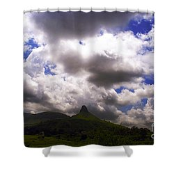 Clouded Hills At Nasik India Shower Curtain by Sumit Mehndiratta