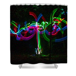 Clouded Shower Curtain by Xn Tyler