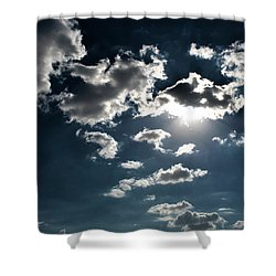 Clouds On A Sunny Day Shower Curtain by Sumit Mehndiratta