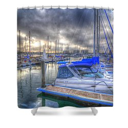 Clouds Over Marina Shower Curtain