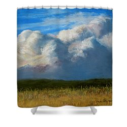 Clouds Over The Meadow Shower Curtain by Jack Skinner