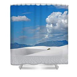 Clouds Over The White Sands Shower Curtain