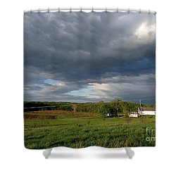 cloudy with a Chance of Paint 2 Shower Curtain by Trish Hale