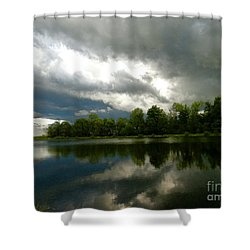 cloudy with a Chance of Paint 4 Shower Curtain by Trish Hale