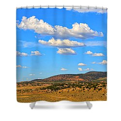 Cloudy Wyoming Sky Shower Curtain