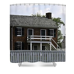 Clover Hill Tavern Kitchen Appomattox Virginia Shower Curtain by Teresa Mucha