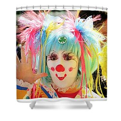 Shower Curtain featuring the photograph Cloverleaf Clown by Alice Gipson